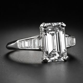 3.18 Carat Emerald-Cut Diamond  GIA H VS1