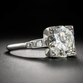 3.29 Carat Diamond Art Deco Engagement Ring - GIA L-VS1