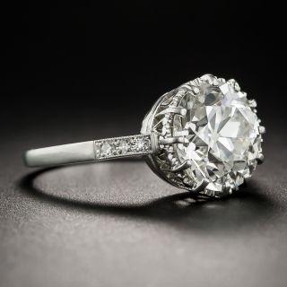 3.36 Carat European-Cut Diamond Solitaire Ring - GIA J VS2