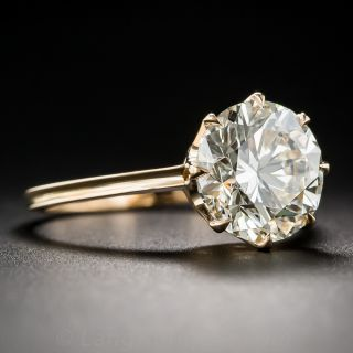 3.37 Carat Diamond Rose Gold Solitaire - GIA L/VS1