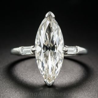 3.37 Carat Marquise Diamond Ring - GIA - 1