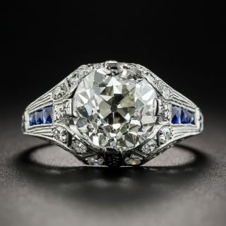 3.46 Carat Art Deco Diamond Engagement Ring - GIA L VS1 - 1