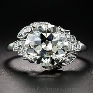 3.47 Carat European-Cut Diamond Ring - 1