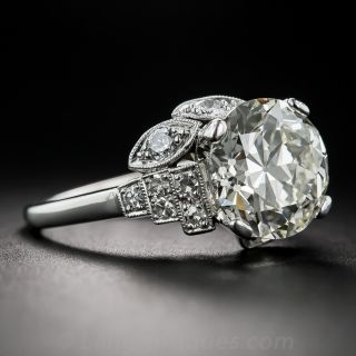 3.47 Carat European-Cut Diamond Ring