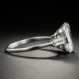 3.65 Carat Art Deco Emerald-Cut Diamond Ring - GIA F SI1