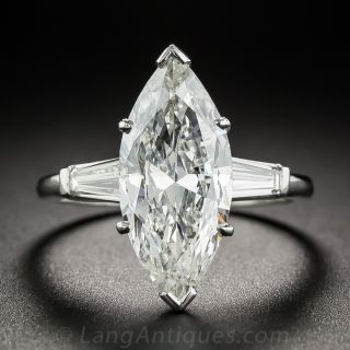 3.71 Carat Marquise Diamond Ring - GIA I SI2 - 1