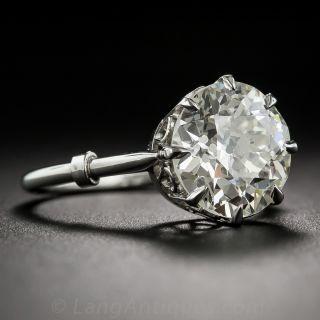 3.78 Carat Diamond Edwardian Style Solitaire