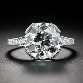3.95 Carat European-Cut Diamond Engagement Ring - GIA I-VS2