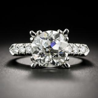 3.95 Carat European-Cut Vintage  Diamond Ring - GIA K/SI1 - 1