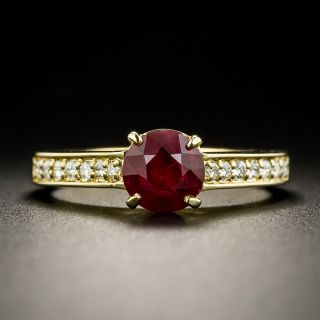Estate 1.10 Carat Ruby and Diamond Ring - 0