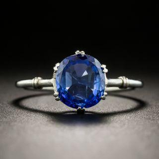 French Art Deco 1.50 Carat Sapphire Solitaire  - 1