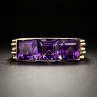 Retro Amethyst Ring - 1