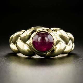 French Cabochon Ruby Ring - 1