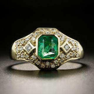 Estate .60 Carat Emerald and Diamond Ring - 1