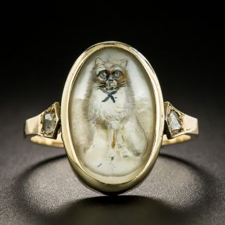 Victorian Essex Crystal Cat/Dog Ring - 1