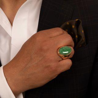 Large Gent's Natural Jadeite Ring