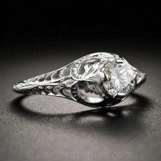 .35 Carat Diamond Art Nouveau inspired Engagement Ring