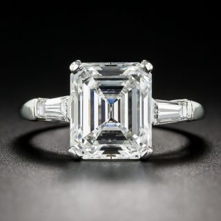 4.20 Carat Emerald-Cut  Diamond Ring GIA E/VS1