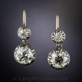 4.59 Carat Diamond Drop Earrings