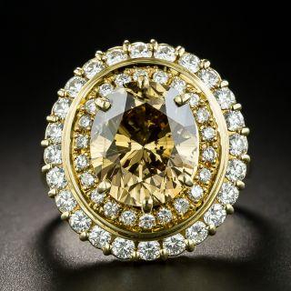 4.83 Carat Natural Brown Oval Diamond Ring - 1