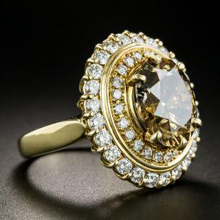 4.83 Carat Natural Brown Oval Diamond Ring