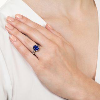 4.90 Carat No-Heat Burma Sapphire and Diamond Ring