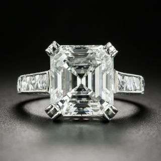 Lang Collection 4.90 Carat Emerald-Cut Diamond Engagement Ring - GIA I SI2 - 2