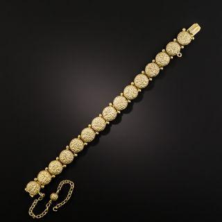 Victorian Textured Round Link Bracelet