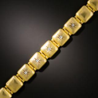 Victorian Domed Link Diamond Bracelet - 1