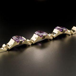 Retro Amethyst Link Bracelet