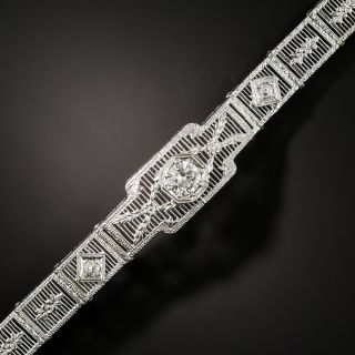 Art Deco Diamond Filigree Bracelet - 2