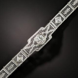 Art Deco Diamond Filigree Bracelet - 2