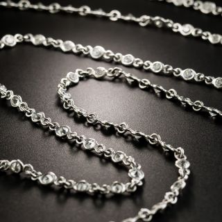 42-Inch Platinum Diamonds-By-The-Yard Necklace - 2