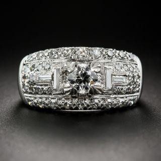 .45 Carat Center Platinum and Diamond Band Ring