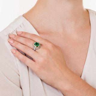 5.00 Carat Emerald  Diamond Ring
