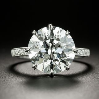 5.03 Carat European-Cut Diamond Ring  - GIA F VS1 - 2
