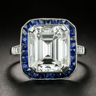 5.11 Carat Emerald-Cut Diamond Art Deco Style Ring - GIA E VVS2 - 1