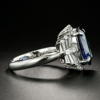 5.18 Carat No-Heat Sapphire and Diamond Ring - GIA