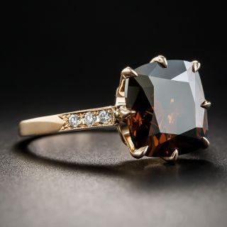 5.42 Carat Natural Fancy Dark Orange Brown Diamond Ring