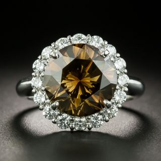 5.45 Carat Natural Fancy Brown Diamond Cluster Ring - GIA - 2