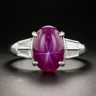 5.50 Carat Star Ruby and Diamond Ring - 1