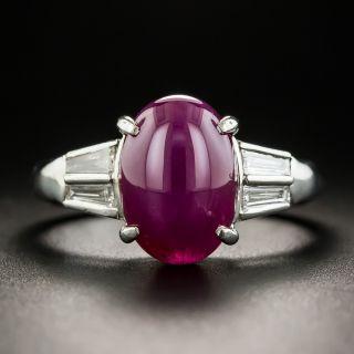 5.50 Carat Star Ruby and Diamond Ring
