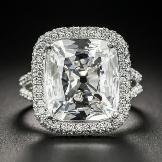 5.56 Carat Antique Cushion-Cut Diamond in Oscar Heyman Mounting - GIA G VS2 - 1