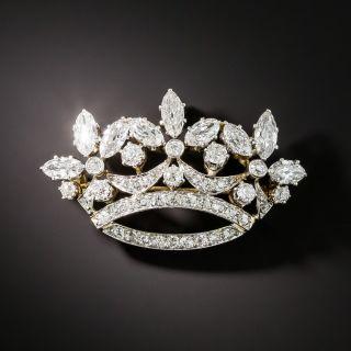 Edwardian Diamond Crown Brooch - 2