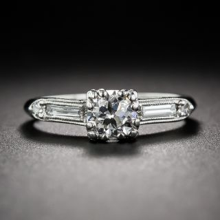 .52 Carat Vintage Platinum and Diamond Engagement Ring