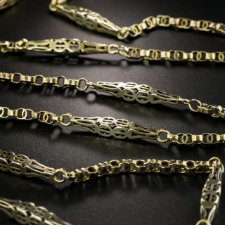 54 Inch Long Victorian Chain Necklace - 2
