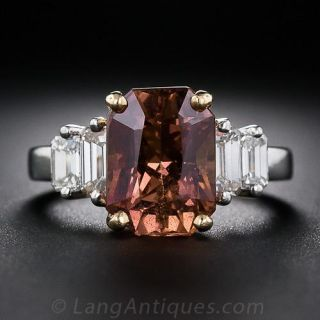 6.00 Fancy Natural-Color Sapphire and Diamond Ring - AGL - 1