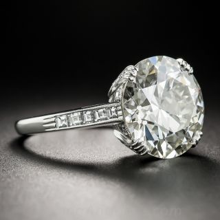 6.78 Carat European-Cut Diamond Ring - GIA  L VS2