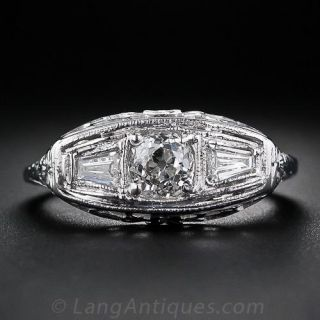 .60 Carat Center Diamond Art Deco Ring - 1