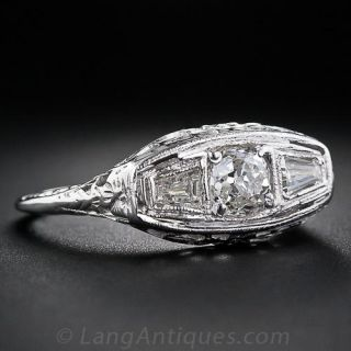 .60 Carat Center Diamond Art Deco Ring